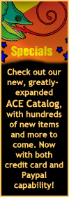 Check out the ACE Catalog. With both credit card and Paypal capability!